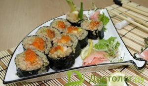 Вегетарианские роллы с коричневым рисом