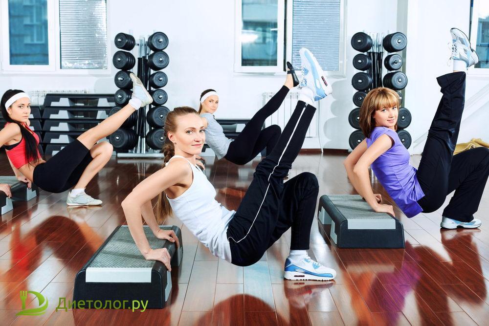 Занятия в фитнес-центрах