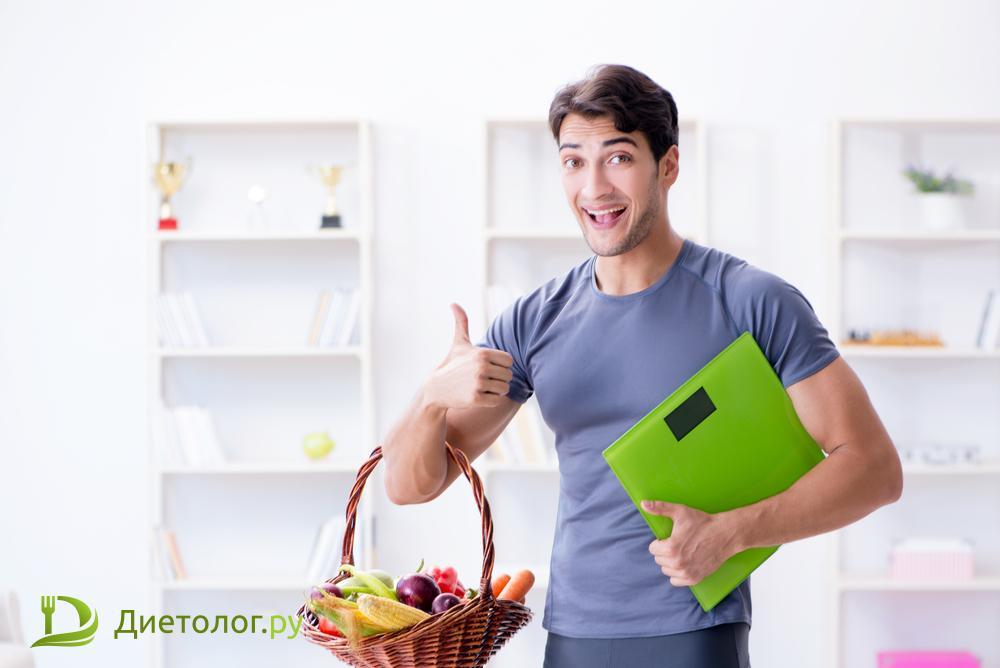 похудеть мужчине правильное питание