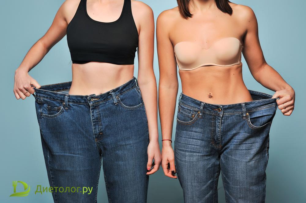 при снижении калорий происходит снижение веса