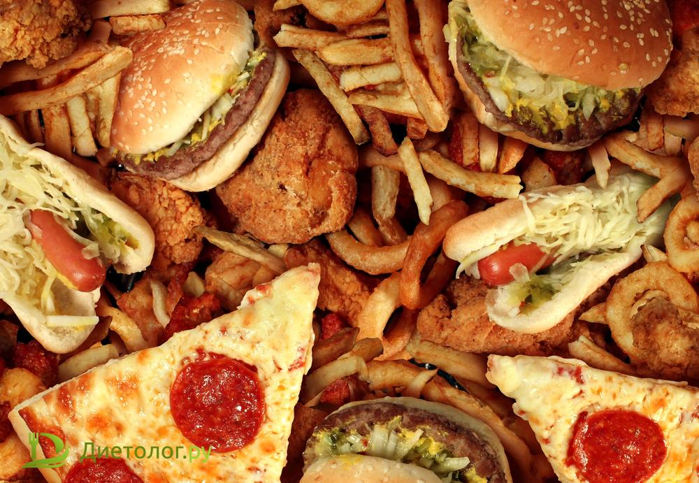 Даже на нездоровом питании можно потерять вес